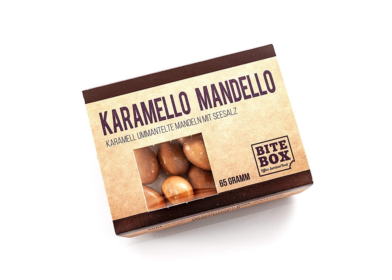 Schokolierte Mandeln mit Karamellaroma und Salz (65 g)
