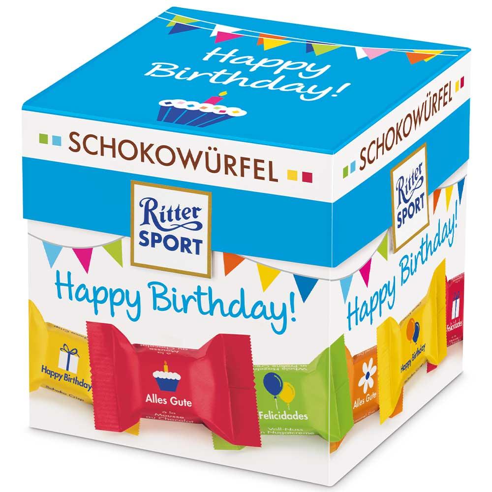 """Schokowürfel """"Happy Birthday"""" (176 g)"""