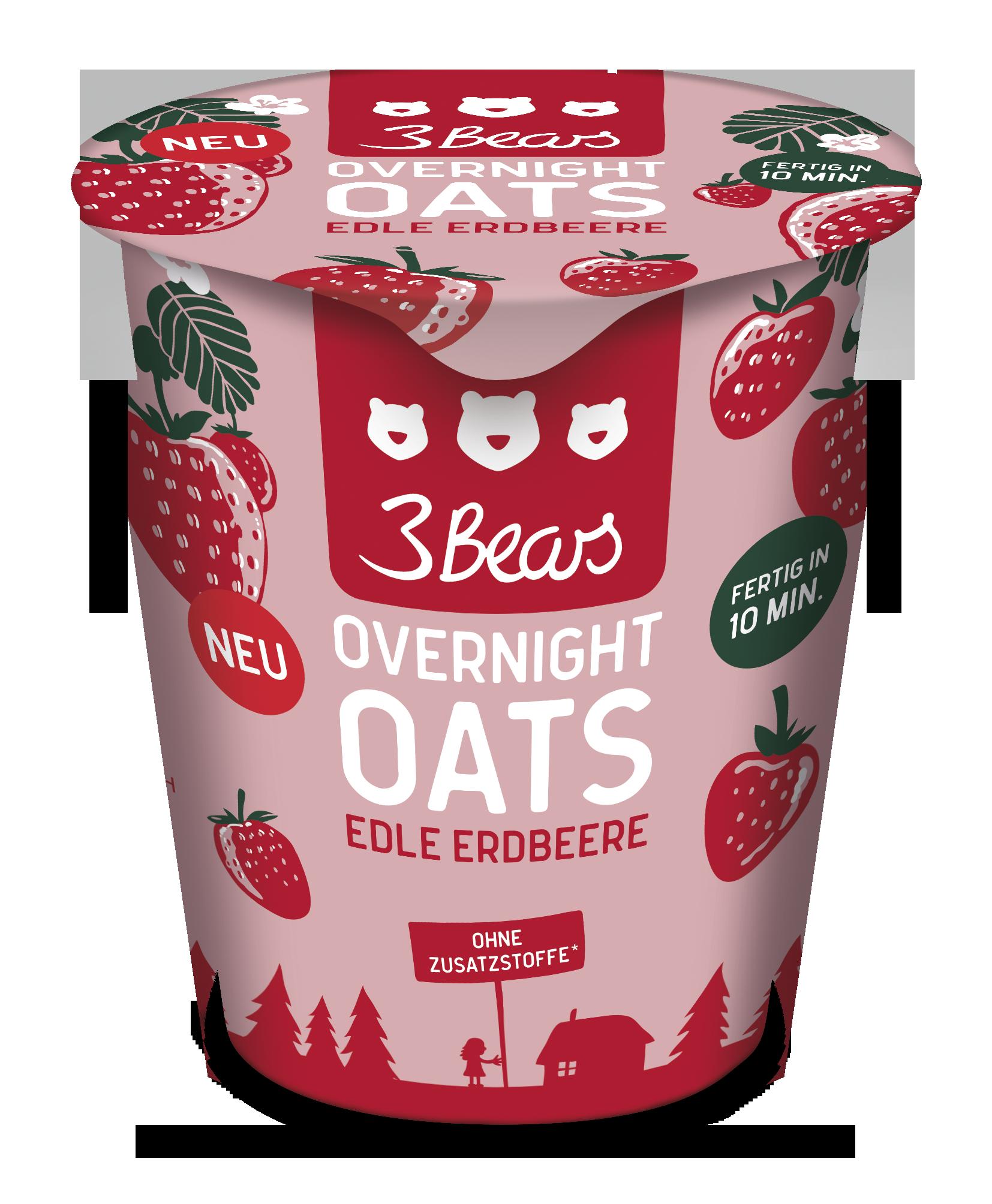 Vegan Overnight Oats Edle Erdbeere (55 g)
